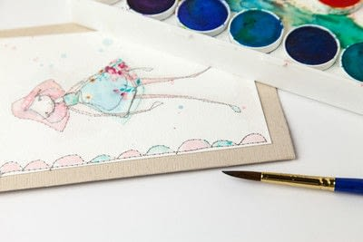 How to make a stitched card. Free Motion Stitched Whimsical Greeting Cards : : Tutorial - Step 8