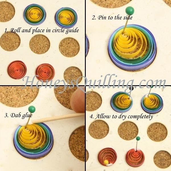 How To Make A Set Of Paper Earrings Quilled Rainbow Erfly Step 2