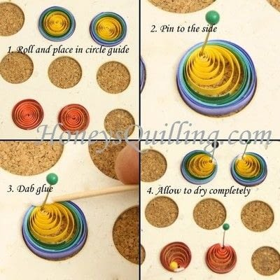 How to make a set of paper earrings. Paper Quilled Rainbow Butterfly - Step 2