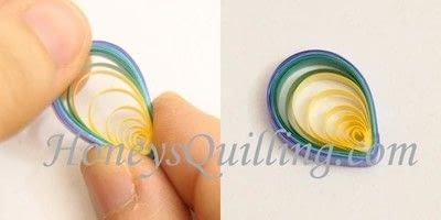 How to make a set of paper earrings. Paper Quilled Rainbow Butterfly - Step 5