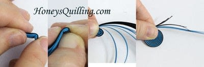 How to fold a piece of quilled art. Paper Quilled Spiral Circle - Step 2