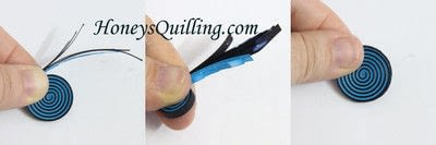 How to fold a piece of quilled art. Paper Quilled Spiral Circle - Step 3