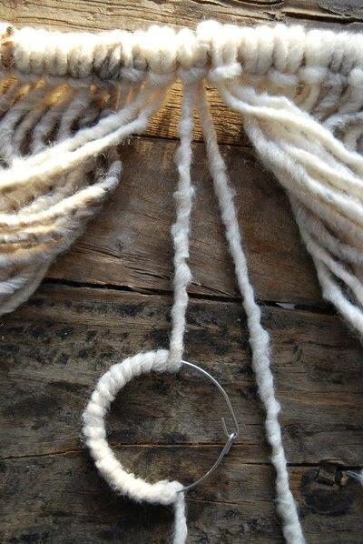 How to make a yarn wall hanging. Diy Yarn Wallhanging - Step 3