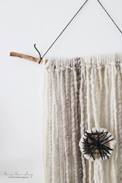How to make a yarn wall hanging. Diy Yarn Wallhanging - Step 7
