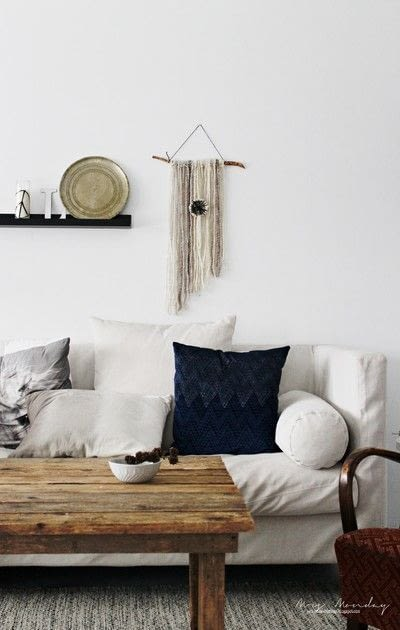 How to make a yarn wall hanging. Diy Yarn Wallhanging - Step 8