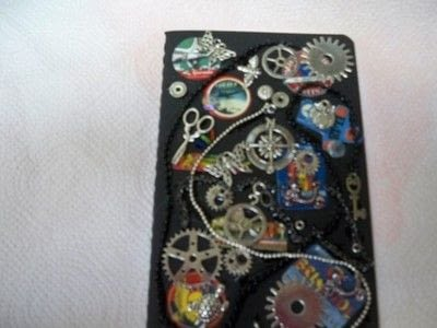How to decorate an altered journal. Steampunk Journal With Canvascorpsbrands Products - Step 4