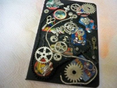 How to decorate an altered journal. Steampunk Journal With Canvascorpsbrands Products - Step 5