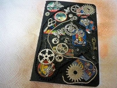 How to decorate an altered journal. Steampunk Journal With Canvascorpsbrands Products - Step 6