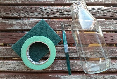 How to decorate a bottle / jar. Painted Chalk Labels For Your Glass Jars - Step 1