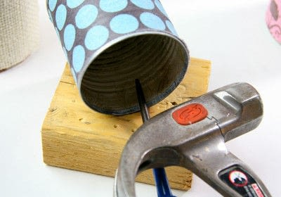 How to make a pot. Tin Can Caddy Tutorial - Step 5