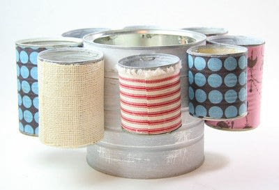 How to make a pot. Tin Can Caddy Tutorial - Step 8