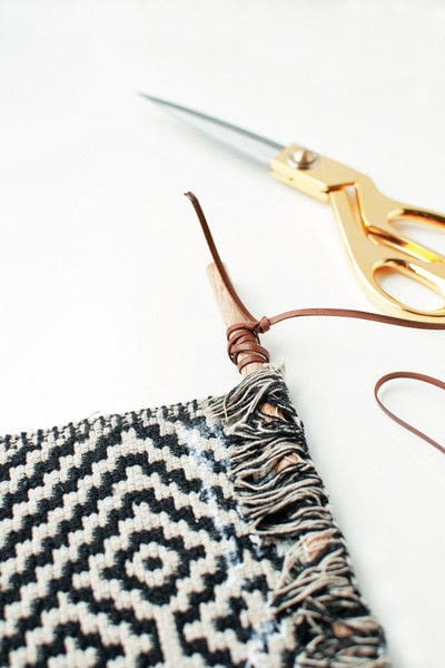 How to make a hanging. Aztec Inspired Diy Wall Banner - Step 3