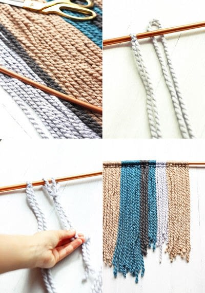How to make a yarn wall hanging. Diy Copper Pipe & Yarn Wall Hanging - Step 1