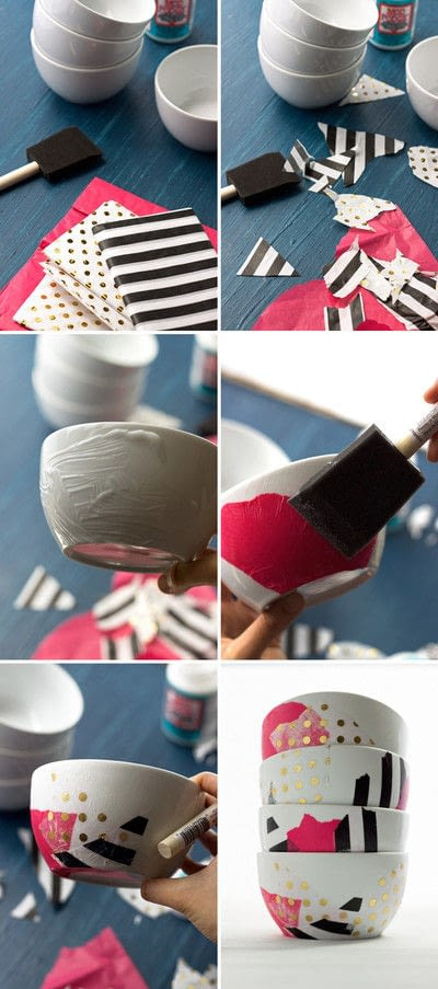 How to make a bowl or basket. 20 Min Diy Mod Podge Bowls - Step 1