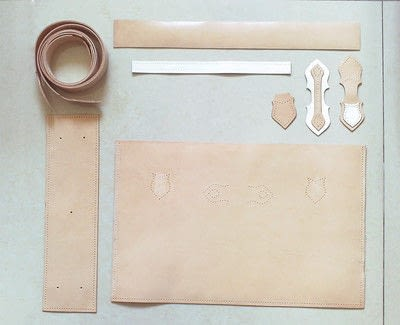 How to sew a leather tote. Handmade Leather Tote Bag/ Handbag - Step 1