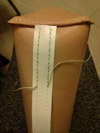 How to sew a leather tote. Handmade Leather Tote Bag/ Handbag - Step 3