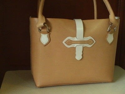 How to sew a leather tote. Handmade Leather Tote Bag/ Handbag - Step 6