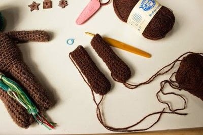 How to make a gingerbread man plushie. Crochet Gingerbread Man  - Step 2