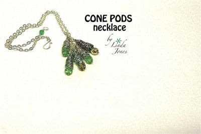How to make a wire pendant. Cone Pod Necklace - Step 4