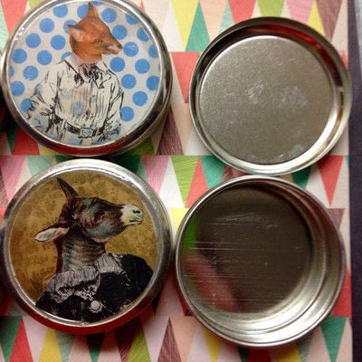 How to make a mint tin for trinkets. Collage Tins - Step 5