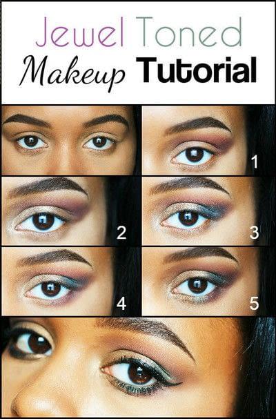 How to create a two toned eye makeup look. Jewel Toned Eye Makeup - Step 2