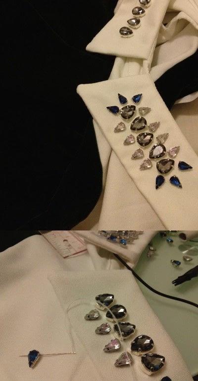 How to make a shirt collar. Diy Simple Jewel Collar - Step 1