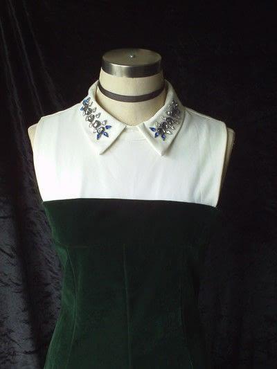 How to make a shirt collar. Diy Simple Jewel Collar - Step 3