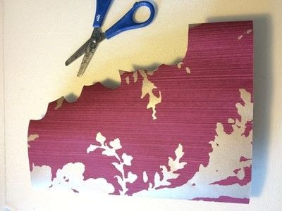 How to make a garland. Wallpaper Leaves Garland - Step 5