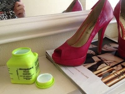 How to paint a pair of painted shoes. Red Ruby Shoes Revamp! - Step 5