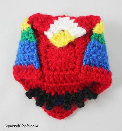 How to make a parrot plushie. Parrot Origami-Inspired Amigurumi - Step 10