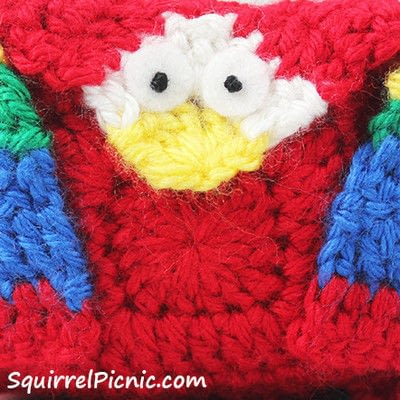 How to make a parrot plushie. Parrot Origami-Inspired Amigurumi - Step 11