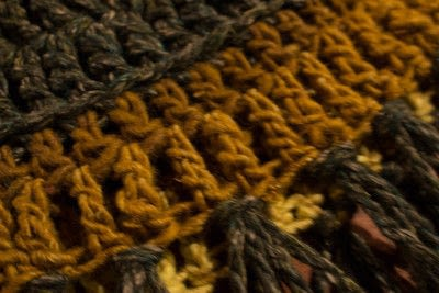How to make a cowl. Fringed Crochet Cowl  - Step 4