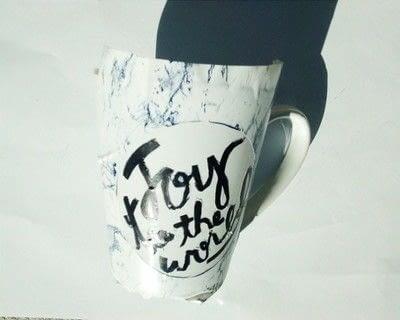 How to make a cup / mug. Diy Stenciled Sharpie Mug - Step 2