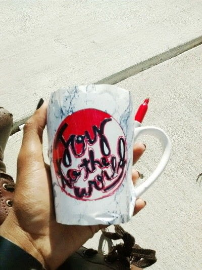 How to make a cup / mug. Diy Stenciled Sharpie Mug - Step 3