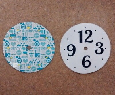 How to make a recycled clock.  Diy Clock Makeover - Step 8