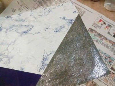 How to make a decorated gadgets. Diy Glitter And Marble Laptop Skin - Step 2