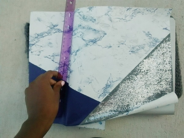 Diy Glitter And Marble Laptop Skin · How To Make A Decorated