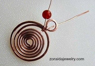 How to make a wire wrapped pendant. Beaded Spiral Pendant Tutorial - Step 6