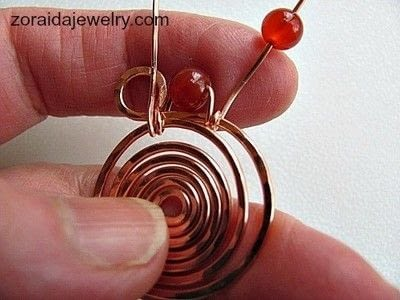 How to make a wire wrapped pendant. Beaded Spiral Pendant Tutorial - Step 8