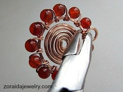 How to make a wire wrapped pendant. Beaded Spiral Pendant Tutorial - Step 13