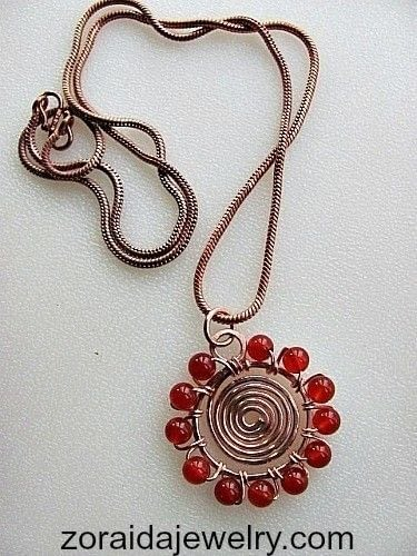 How to make a wire wrapped pendant. Beaded Spiral Pendant Tutorial - Step 14