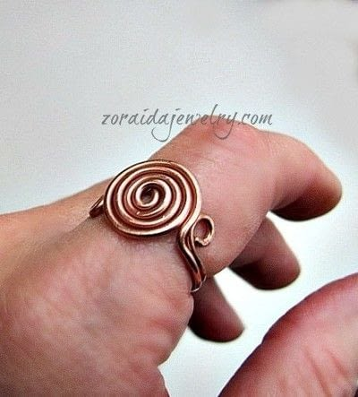 How to make a wire swirl ring. How To Make A Spiral Wire Ring - Step 13