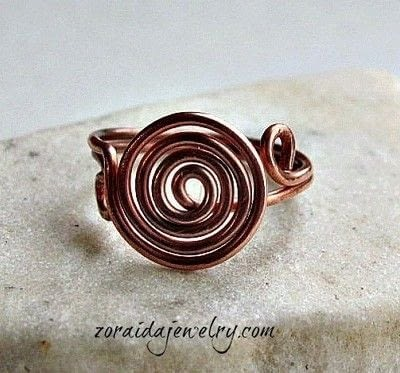 How to make a wire swirl ring. How To Make A Spiral Wire Ring - Step 14