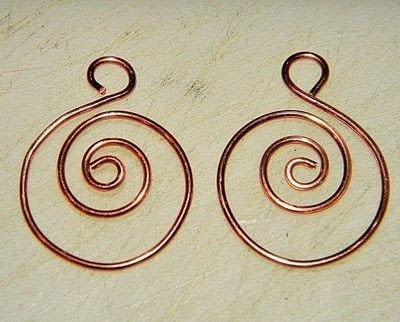 How to make a pair of wire earrings. How To Make Spiraled Bead And Wire Earrings   - Step 2