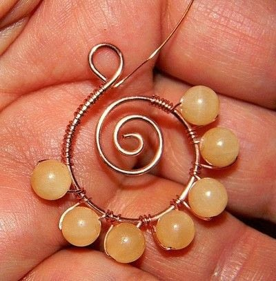 How to make a pair of wire earrings. How To Make Spiraled Bead And Wire Earrings   - Step 5