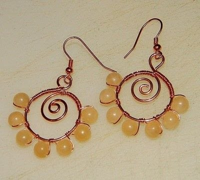 How to make a pair of wire earrings. How To Make Spiraled Bead And Wire Earrings   - Step 8