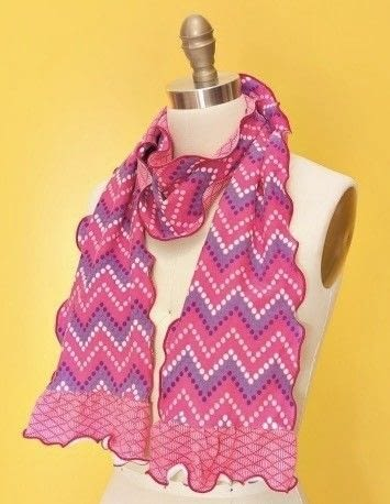 How to make a fabric scarf. Scarf Trio By Modkid - Step 1