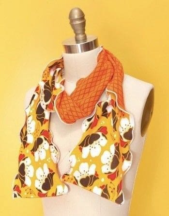 How to make a fabric scarf. Scarf Trio By Modkid - Step 2