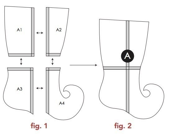 whimsical stocking template  Elf Stocking By Modkid · How To Make A Christmas Stocking ...