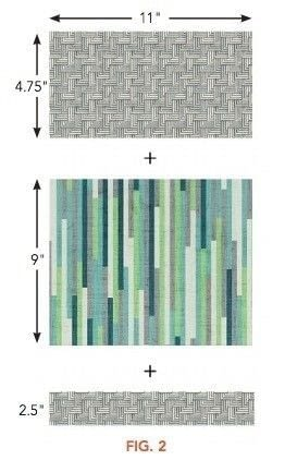 How to make a patchwork quilt. Stop The Presses Quilt Pattern By Modkid - Step 2